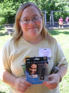Tarrah, who works at our Guion Road Center won an MP3 player!