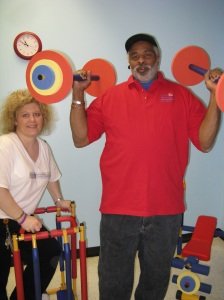 Center Director Deanna Saylor with special volunteer Jeffrey Coe
