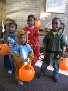 Day Nursery children model costumes donated last year by the employees of Ingersoll Rand.