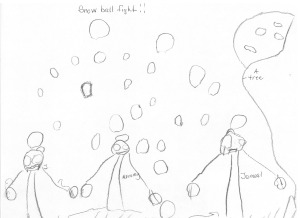 """Snowball Fight"" by Jamal J., age 5"