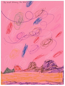 """Wind Blowing the Snow"" by Ugne J., age 5"