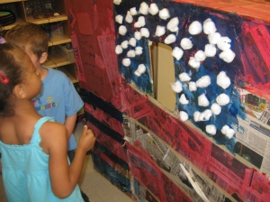 The students decorated a fort