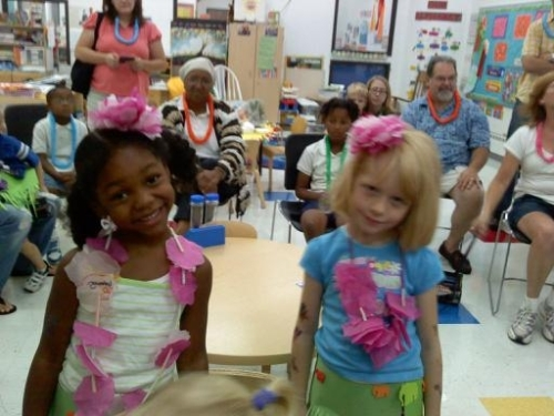 PreK students enjoy the party