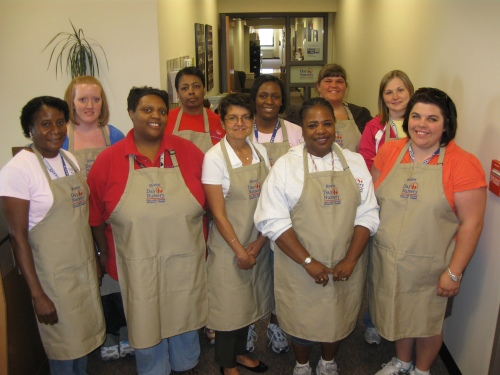 NEW DAY NURSERY MENTORS: (front L to R) Eva Johnson, Lilly; Amanda Childress, Federal; Berta Rice, Clarian; Mary Cosby, Northwest; Tracey Wood, Avon; (back L to R) Mary Smith, Northwest; Kim Townsend, Ft. Harrison; Twanette Harrington, State; Krystal Gardner, Avon and Tonia Jaggers, State.  Missing: Patricia Peoples, Clarian.