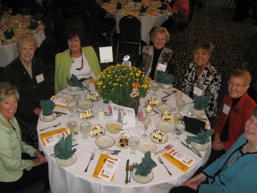 Past President Sally Anderson had a fun group of friends at her table.
