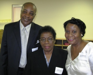 Annie Terry (center) has been teaching at Day Nursery for 35 years.  She is pictured here wth her husband, and good friend and fellow teacher Eva Johnson.