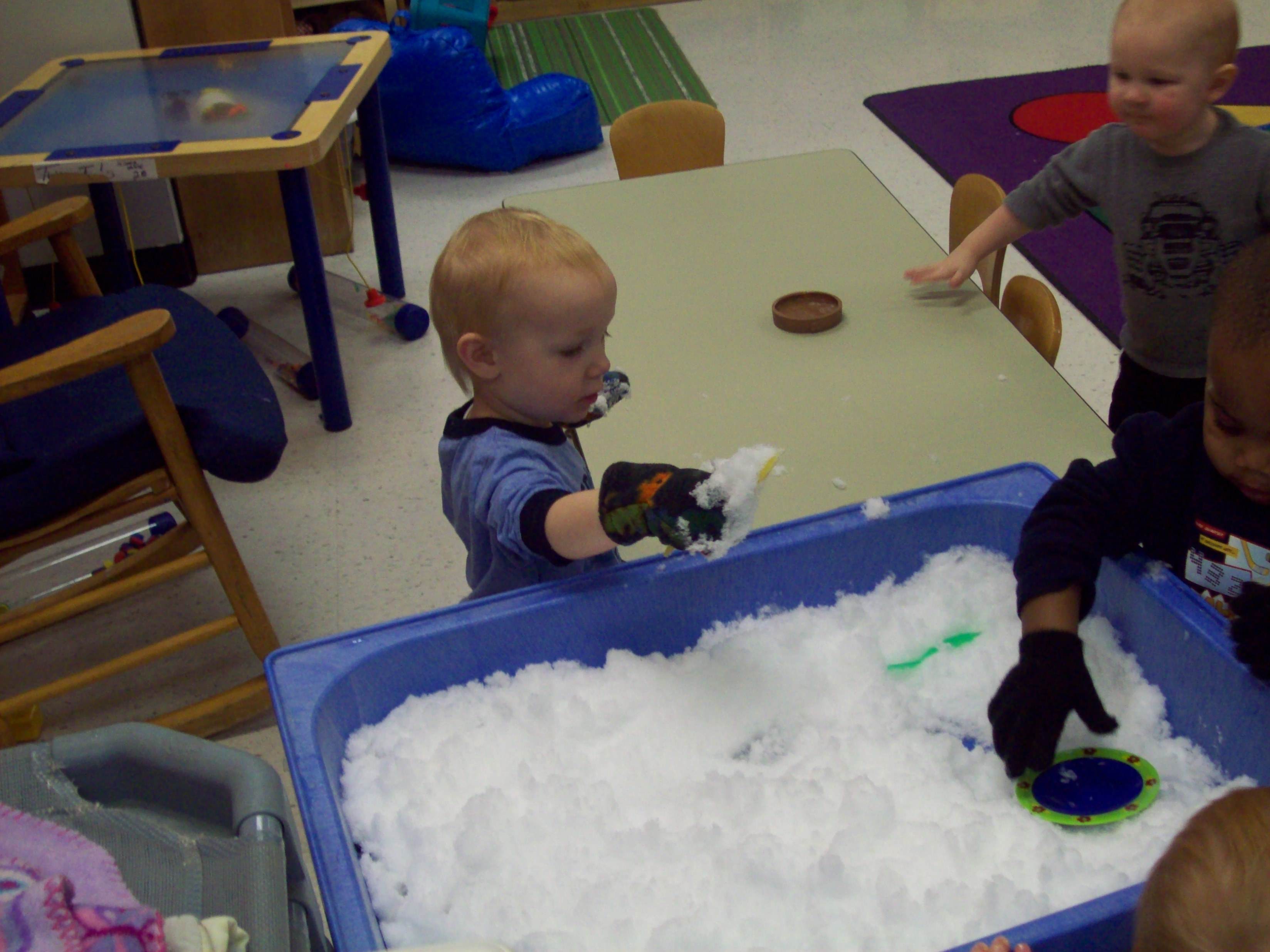 Day Nursery State Center Toddlers Like Indoor Snowplay Too