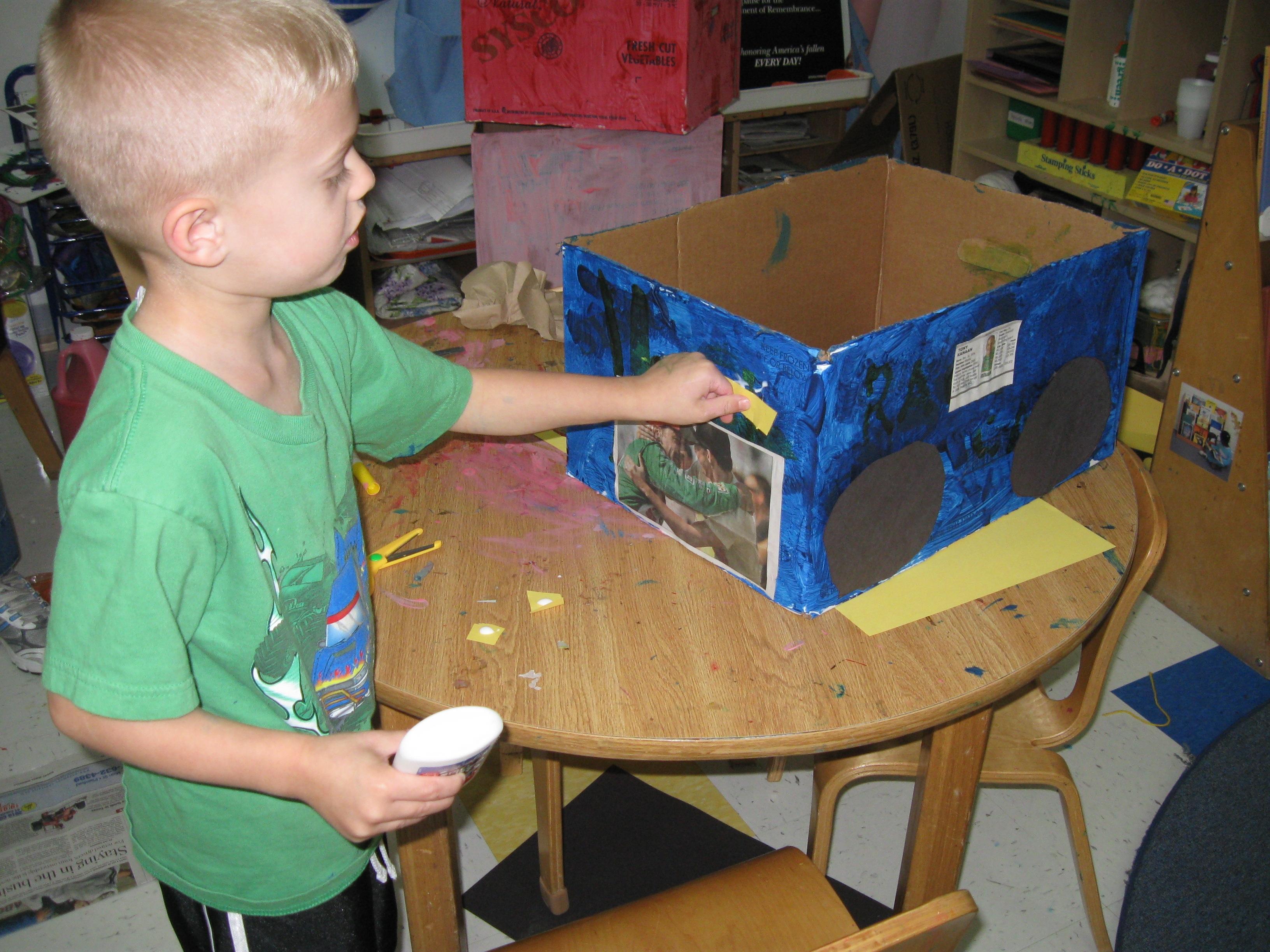 making a cardboard race car