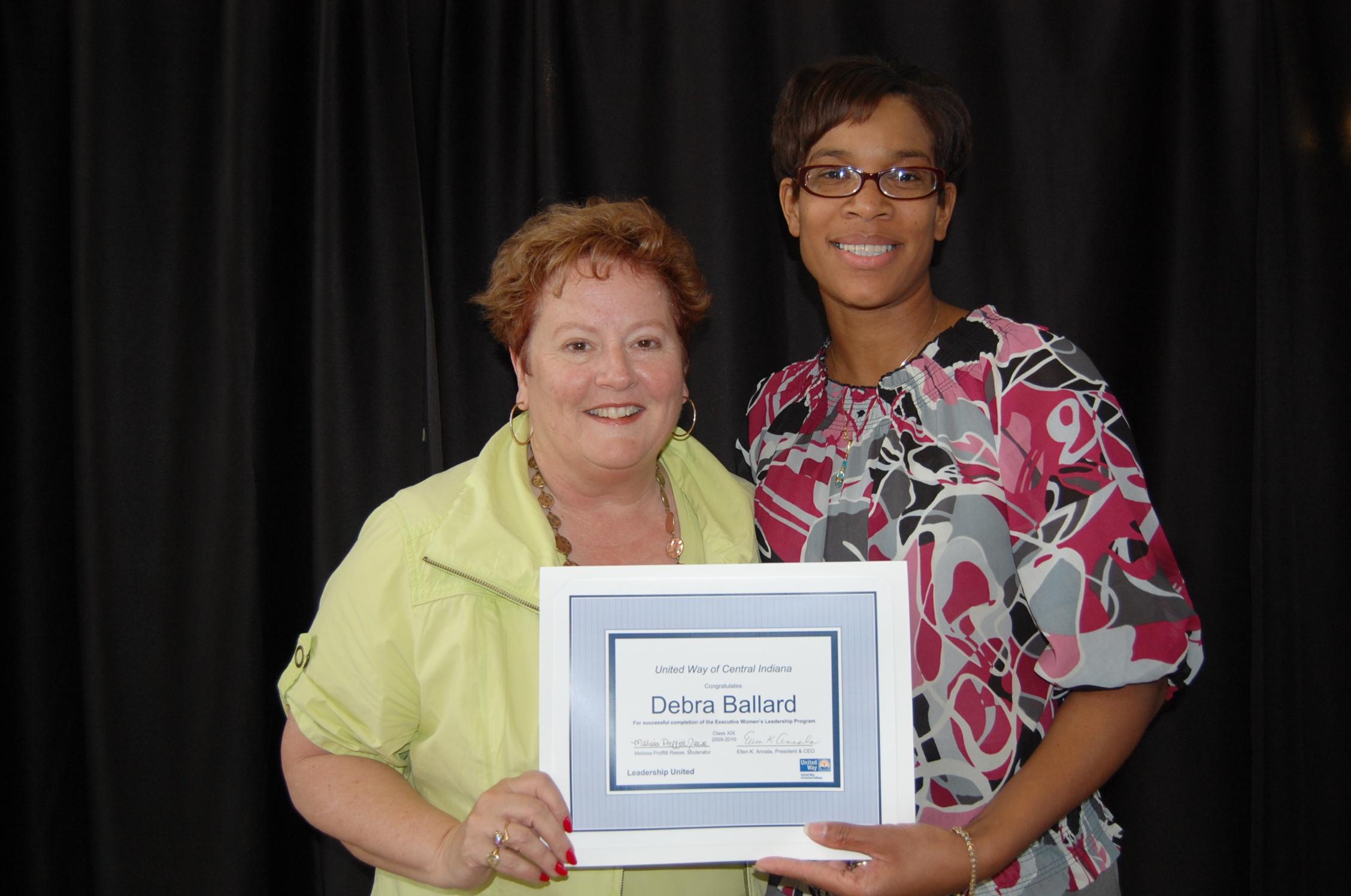 Carolyn Dederer and Debra Ballard