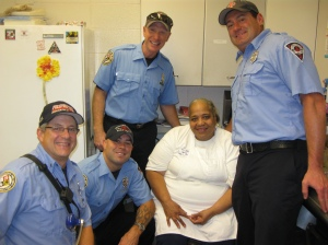 Day Nursery Cook Ms. Anita and IFD station 31 firefighters