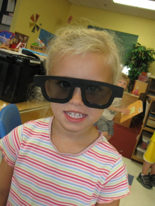 Day Nursery preschooler getting vision tested