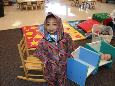 Day Nursery Students Enjoy Dramatic Play Area The Day