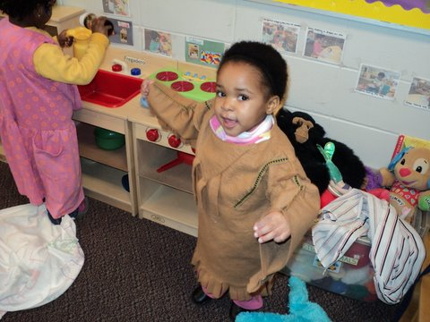 Day Nursery Ruth A Lilly Center student