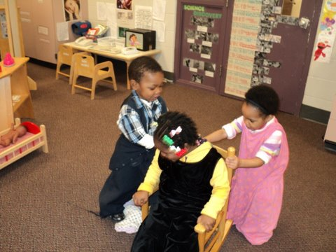 Day Nursery Ruth A Lilly Center students
