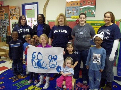 Students and staff of Day Nursery Northwest