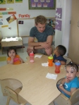 Graham Davis visiting children at Day Nursery Federal Center