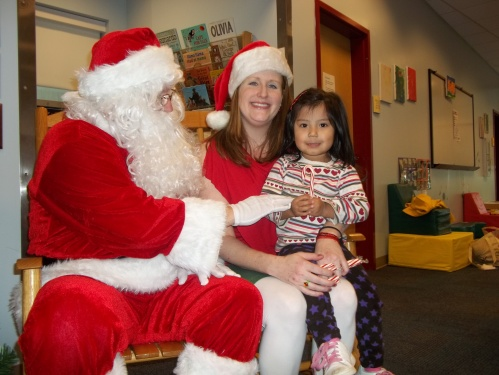 Santa visits Day Nursery IU Health Indianapolis