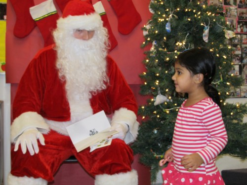Santa visits Day Nursery Federal Center Indianapolis