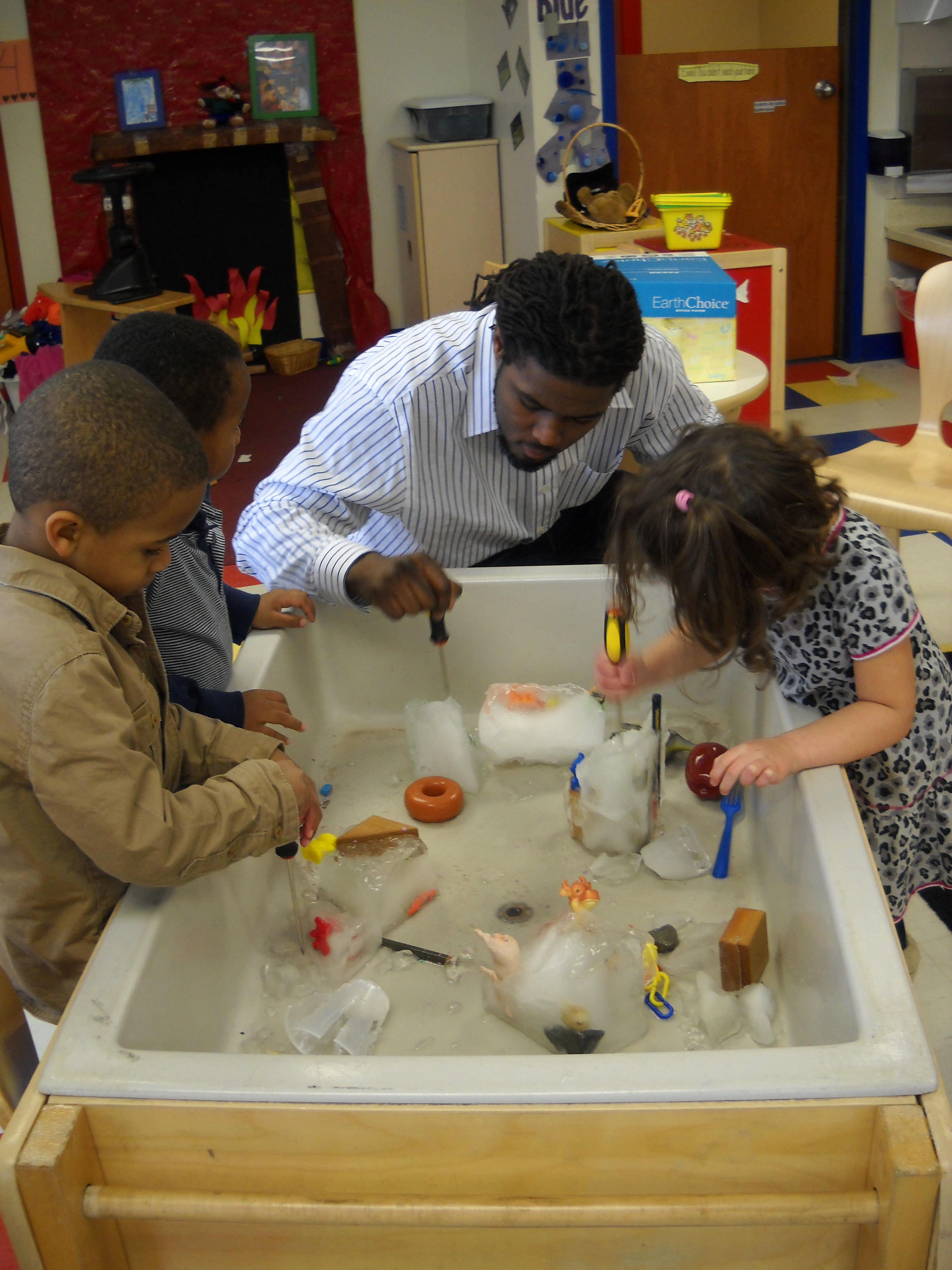 winter themes involve science at day nursery northwest indianapolis