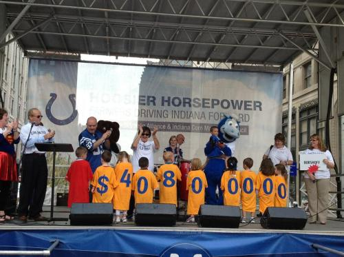 Day Nursery preschoolers help announce United Way goal