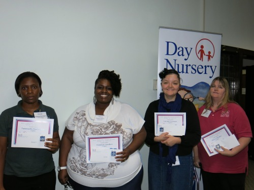 Day Nursery Indianapolis Staff 5 years of service award