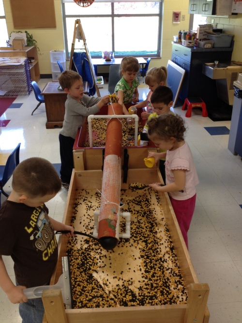 Preschool sensory table in Day Nursery classroom