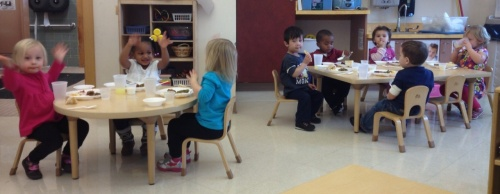 Day Nursery Fort Harrison toddlers eating lunch