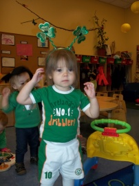 Day Nursery toddlers celebrating St. Patrick's Day