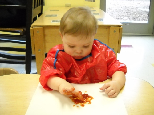 Aniken painting with ketchup