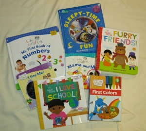 A sampling of the great books we received!
