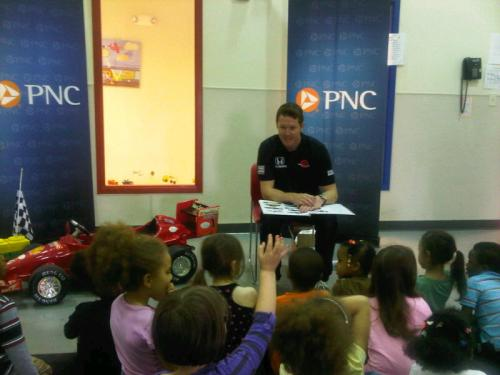 Indy 500 winner Scott Dixon visits Day Nursery Northwest preschoolers