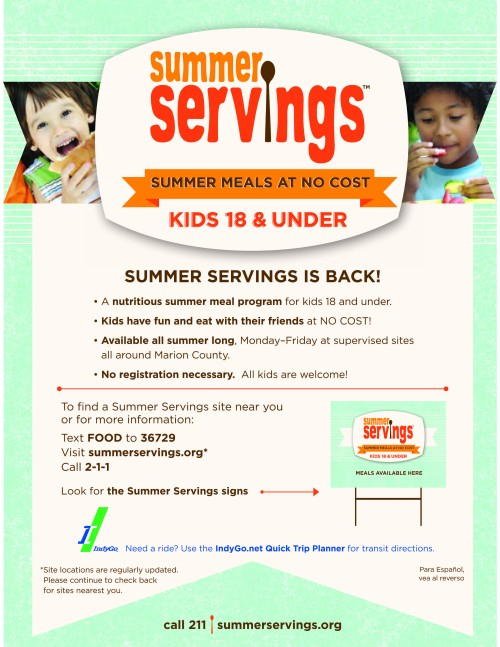 Summer Servings food program 2013-1