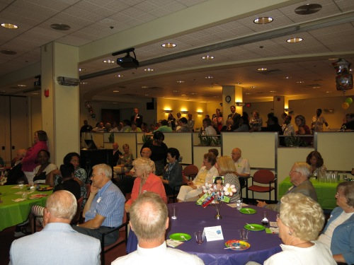 Guests filled the Reuben Community Room at WFYI