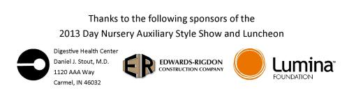 Day Nursery Auxiliary of Indianapolis Style Show sponsors